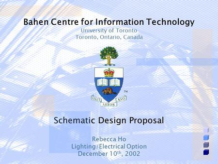 Schematic Design Proposal