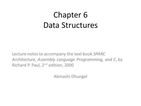 Chapter 6 Data Structures