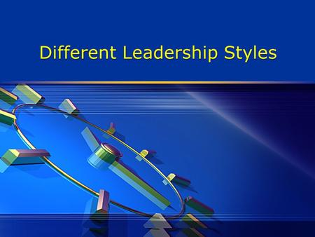 Different Leadership Styles. What is a Leadership Style?  It's a pattern of behaviors you use when you are trying to influence the behaviors of others.