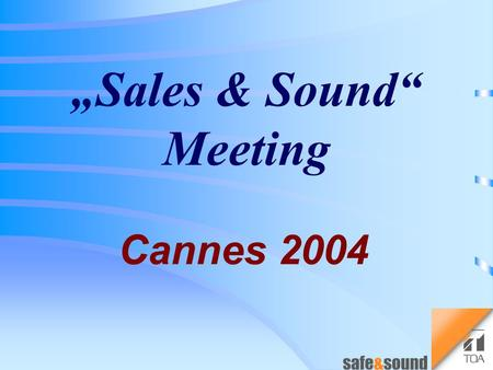 """Sales & Sound"" Meeting Cannes 2004 Digital Mixer D-901 New Module Line Up."