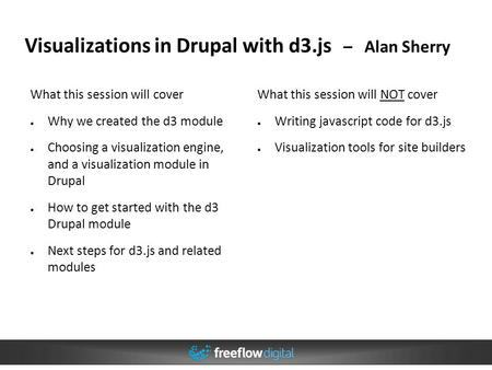 Visualizations in Drupal with d3.js – Alan Sherry