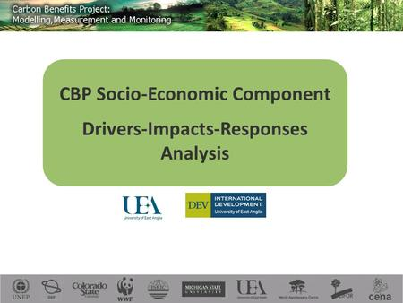 CBP Socio-Economic Component Drivers-Impacts-Responses Analysis.