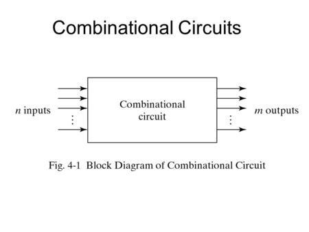 Combinational Circuits. Designing Combinational Circuits In general we have to do following steps: 1.Problem description 2.Input/output of the circuit.