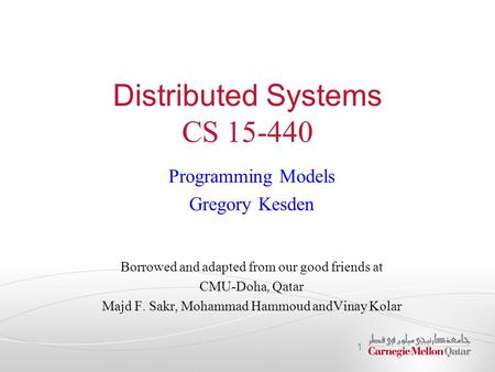 Distributed Systems CS