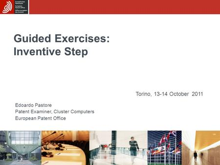 Guided Exercises: Inventive Step