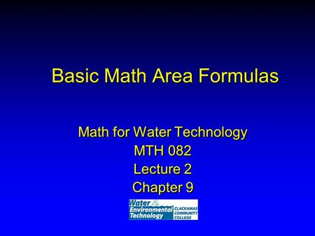 Basic Math Area Formulas