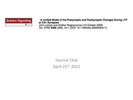 Journal Club April 25 th, 2012. Paper Layout Overview Quantal transmission of CA1 synapses Properties of basal transmission: – The GluR1 sub-unit in distance-dependent.