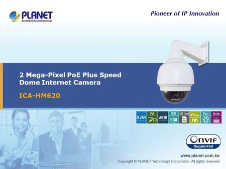 2 Mega-Pixel PoE Plus Speed Dome Internet Camera ICA-HM620.
