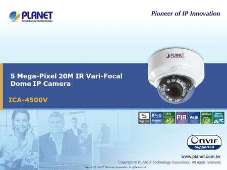 5 Mega-Pixel 20M IR Vari-Focal Dome IP Camera