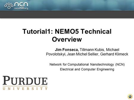 Tutorial1: NEMO5 Technical Overview