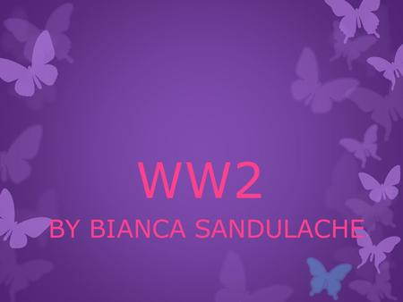 WW2 BY BIANCA SANDULACHE. The Emergency  THE EMERGENCY WAS THE NAME GIVEN TO IRELAND 'S STATE DURING WW2.  IRELAND WAS NEUTRAL AND A LAW CALLED THE.