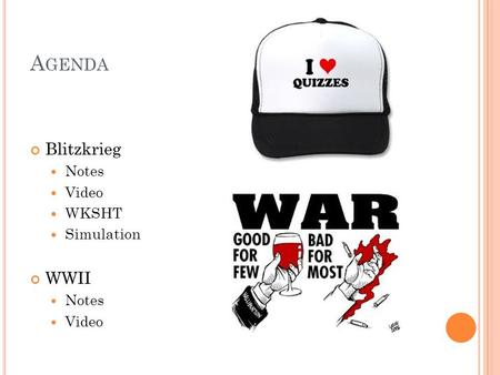 A GENDA Blitzkrieg Notes Video WKSHT Simulation WWII Notes Video.