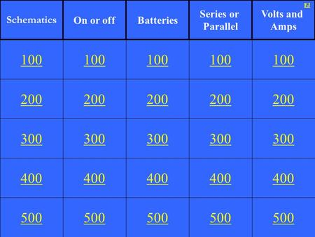 Schematics On or off Batteries Series or Parallel Volts and Amps FJ