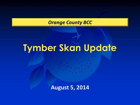 Tymber Skan Update Orange County BCC August 5, 2014.