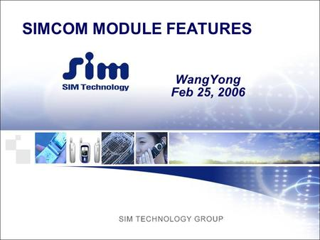 SIMCOM MODULE FEATURES