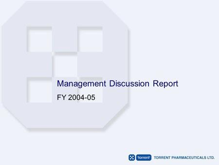 Management Discussion Report FY 2004-05. Index Key Financial Numbers Operating Margins Balance Sheet Summary Performance Highlights Business Operations.