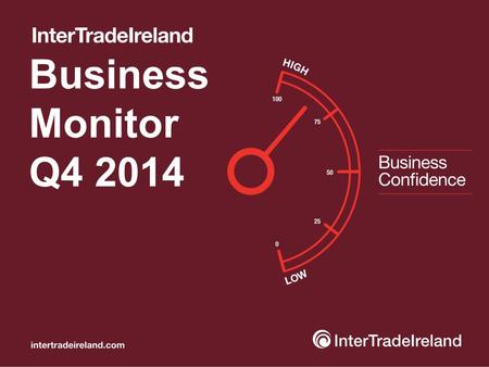 "Business Monitor Q4 2014. Business Monitor Q4 Business position ""85% of firms either stable or growing..."" Which of the following best describes the current."