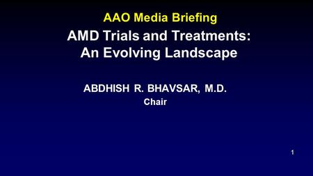 AMD Trials and Treatments: