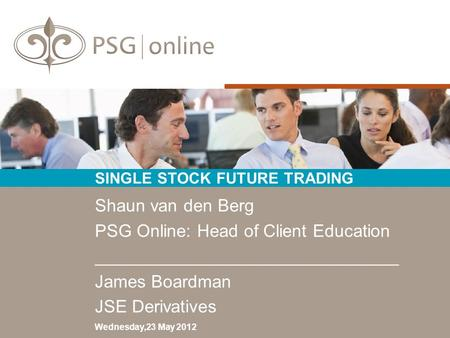 SINGLE STOCK FUTURE TRADING