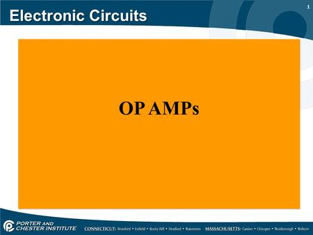 1 Electronic Circuits OP AMPs. 2 Electronic Circuits Operational amplifiers are convenient building blocks that can be used to build amplifiers and filters.