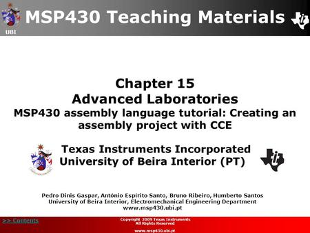 MSP430 Teaching Materials
