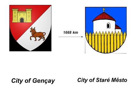 City of Gençay City of Staré Město 1668 km. In Gençay, there is a lake next to our High School. It's a great place to go fishing and walk !