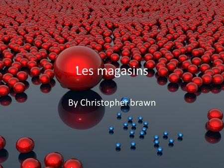 Les magasins By Christopher brawn. La Boulangerie.