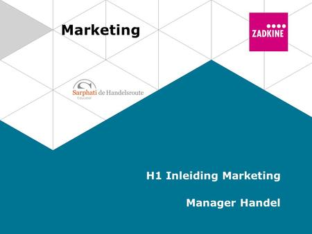 Marketing H1 Inleiding Marketing Manager Handel. 2 Marketing | Manager Handel Marketing Activiteiten van een (winkel)organisatie. Doel: Wensen en behoeften.