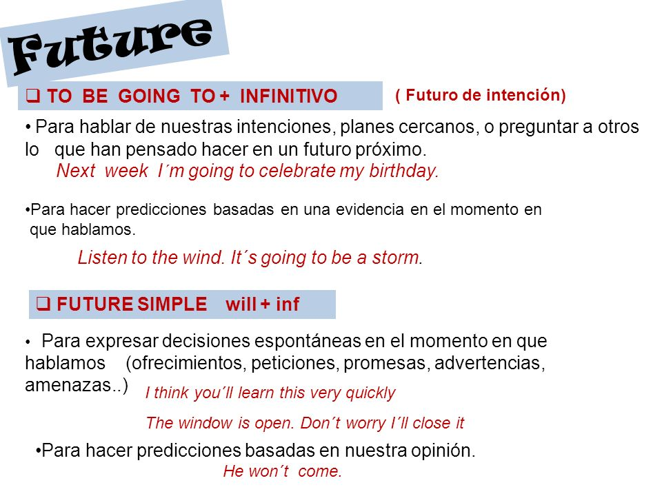 FUTURE CONTINUOUS Future de to be + V-ing + - .