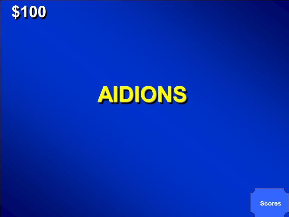 © Mark E. Damon - All Rights Reserved $100 AIDIONSAIDIONS Scores