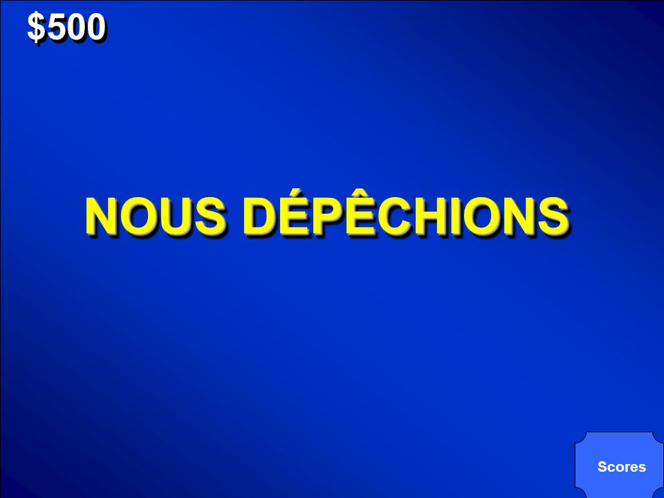 © Mark E. Damon - All Rights Reserved $500 NOUS DÉPÊCHIONS Scores
