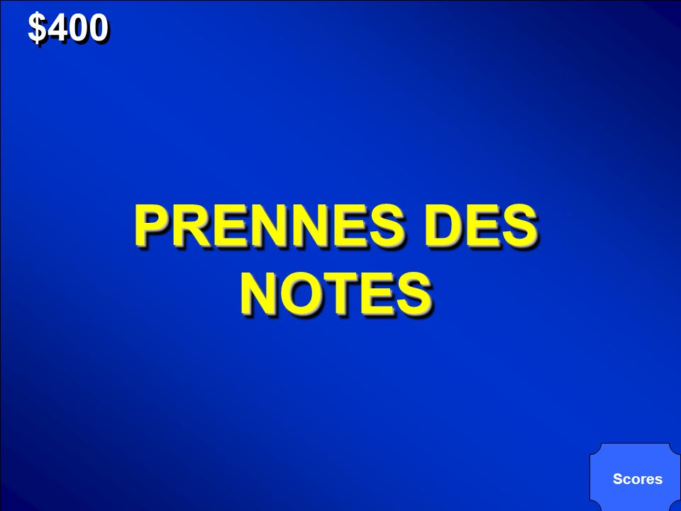 © Mark E. Damon - All Rights Reserved $400 PRENNES DES NOTES Scores