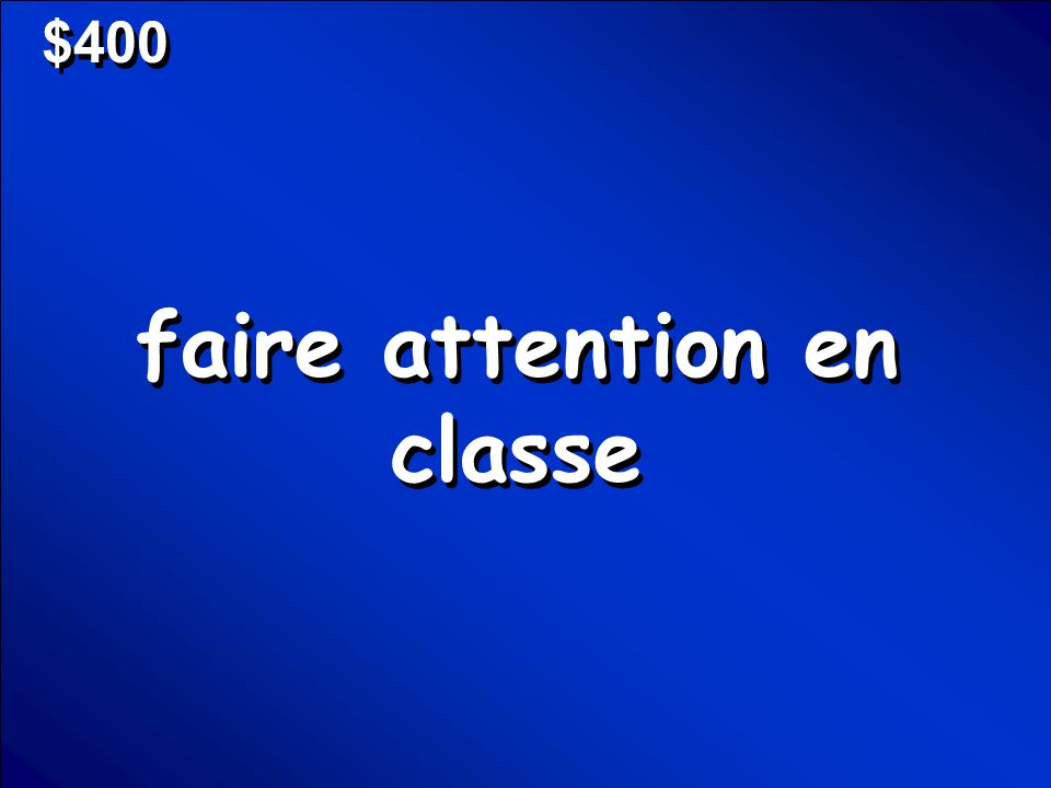 © Mark E. Damon - All Rights Reserved $400 faire attention en classe