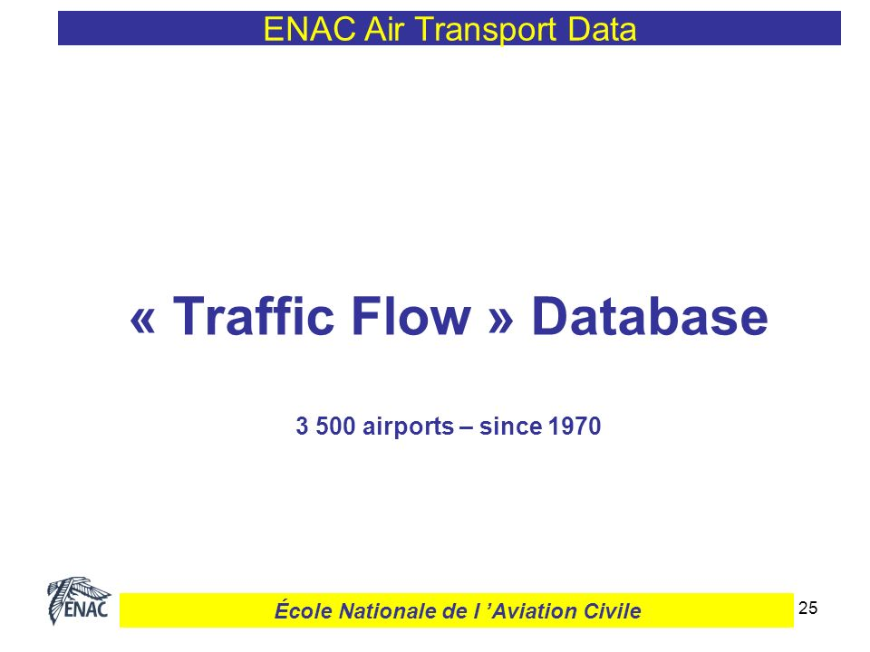 26 Country-pair Traffic Flow ENAC Air Transport Data École Nationale de l Aviation Civile