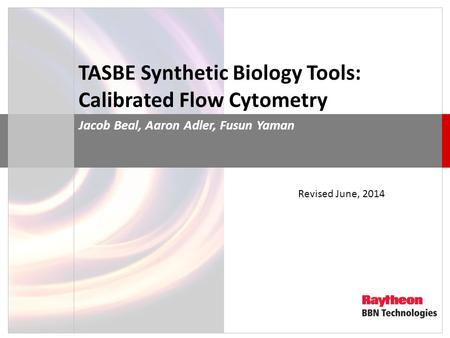 TASBE Synthetic Biology Tools: Calibrated Flow Cytometry
