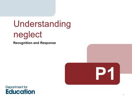 Recognition and Response Understanding neglect P1 1.