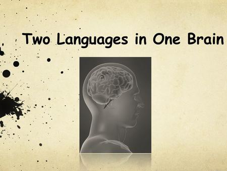 Two Languages in One Brain
