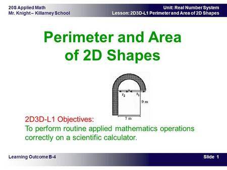 Perimeter and Area of 2D Shapes