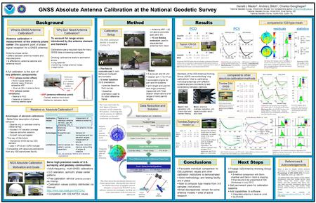 GNSS Absolute Antenna Calibration at the National Geodetic Survey Background Gerald L Mader 2, Andria L Bilich 1, Charles Geoghegan 3 1 National Geodetic.