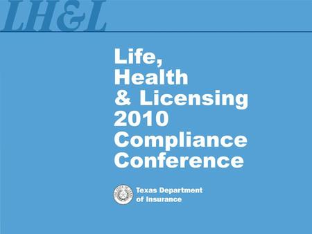 Compliance with Texas Agent Licensing Laws and Regulations.