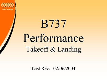 B737 Performance Takeoff & Landing