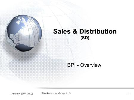 Sales & Distribution (SD)