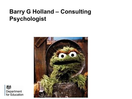 Barry G Holland – Consulting Psychologist. Philosophy.