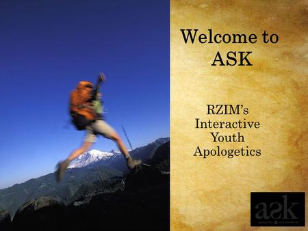 RZIM's Interactive Youth Apologetics