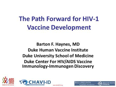 The Path Forward for HIV-1 Vaccine Development