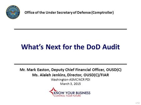 What's Next for the DoD Audit