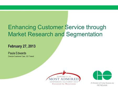 Enhancing Customer Service through Market Research and Segmentation
