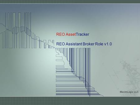 REO AssetTracker REO Assistant Broker Role v1.0 MaximLogic LLC.