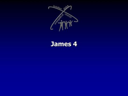 "James 4. James is addressing serious conflict in the community of believers quarrelling fighting murderous jealousy slandering judging each other ""STOP!"
