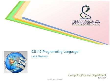 CS110 Programming Language I